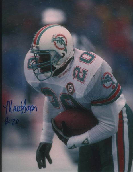 Marc Logan autographed 8x10,Miami Dolphins