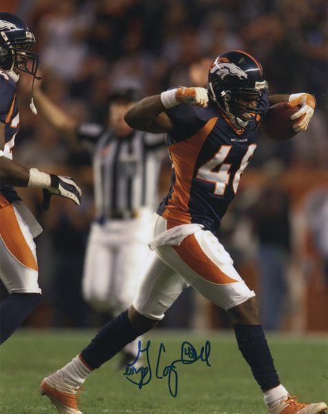 George Coghill autograph 8x10, Denver Broncos