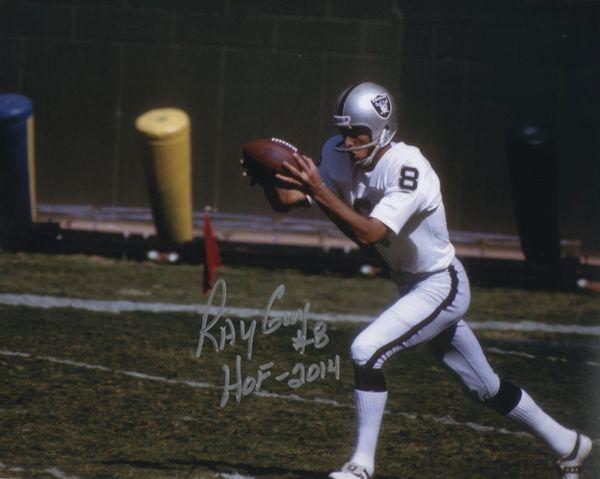 Ray Guy autographed 8x10, Oakland Raiders inscription HOF 2014