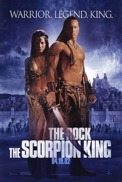 Scorpion King Original Movie Poster Version A starring Dwayne Johnson