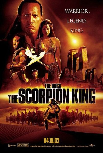 Scorpion King Original Movie Poster Version B starring Dwayne Johnson
