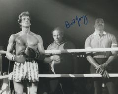 Burt Young autograph 8x10 Rocky III