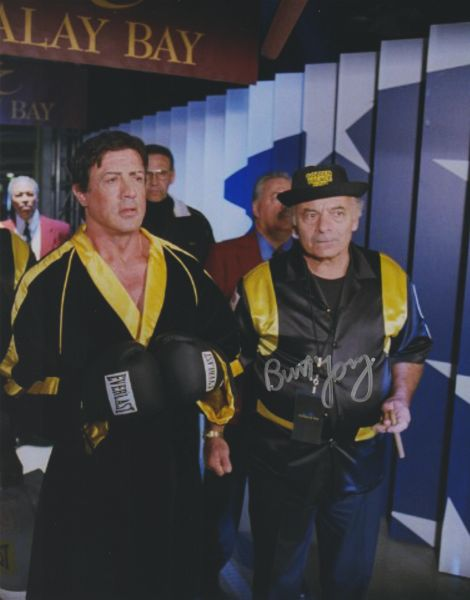 Burt Young autograph 8x10 Rocky Balboa, final walk to ring
