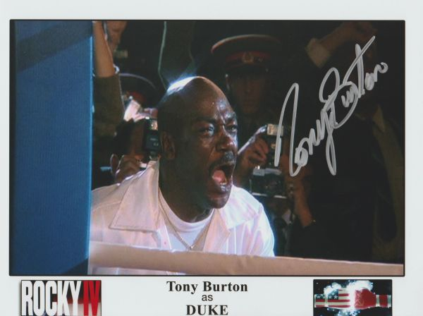 Tony Burton autograph 8x10, no inscription Rocky IV