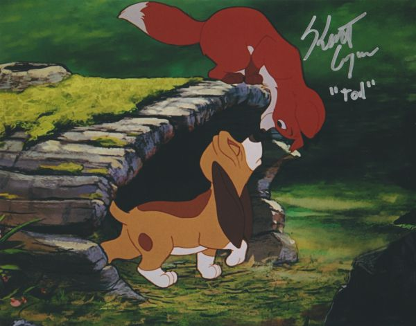 Keith Coogan autograph 8x10 of Disney's Fox and the Hound