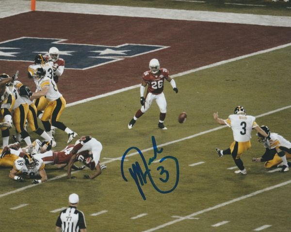 Jeff Reed autograph 8x10, Pittsburgh Steelers