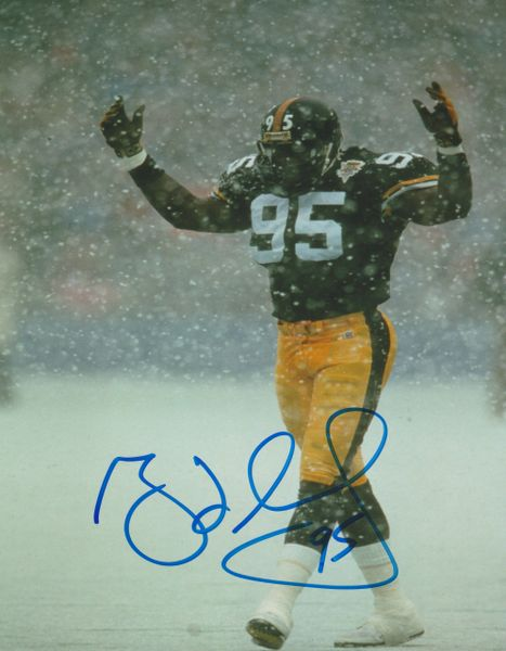 Greg Lloyd auto 8x10, Pittsburgh Steelers
