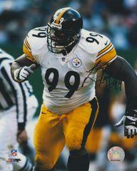 Levon Kirkland auto 8x10, Pittsburgh Steelers