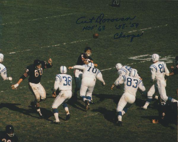 Art Donovan auto 8x10, Baltimore Colts 2 inscriptions!