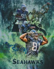 Koren Robinson autograph custom 8x10, Seattle Seahawks