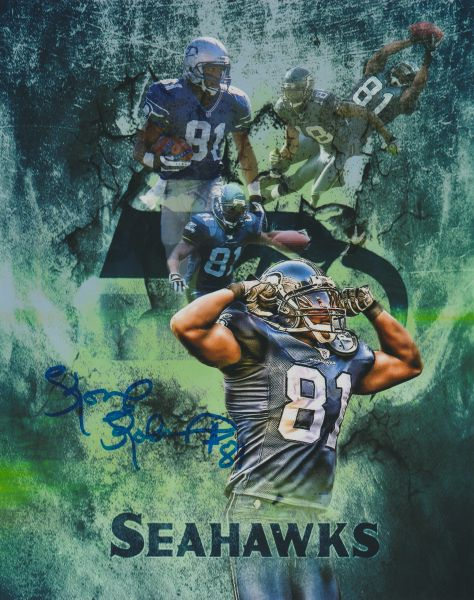 Koren Robinson autograph custom 8x10, Seattle Seahawks