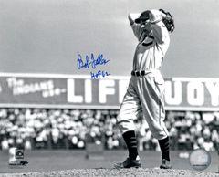 Bob Feller autograph 8x10, Cleveland Indians, HOF 62
