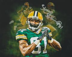 Koren Robinson autograph custom 8x10, Green Bay Packers