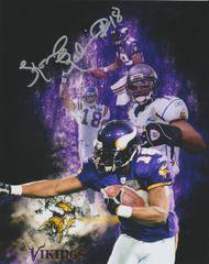 Koren Robinson autograph custom 8x10, Minnesota Vikings