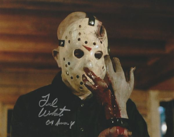 Ted White autograph 8x10, Friday the 13th Part 4, Jason Vorhees (bloody)