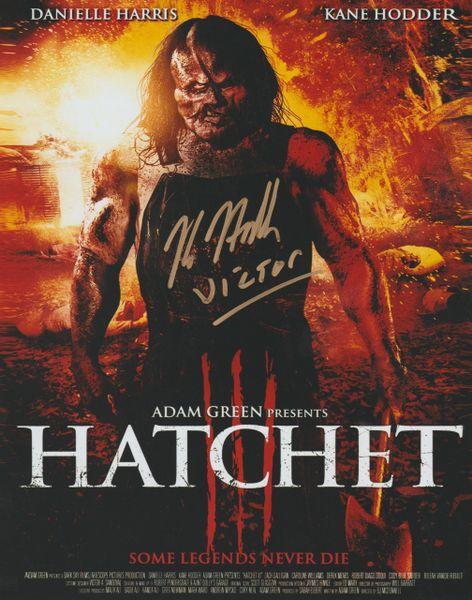 Kane Hodder autograph 8x10, Hatchet part III
