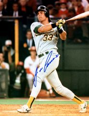 Jose Canseco autograph 8x10, Oakland A's