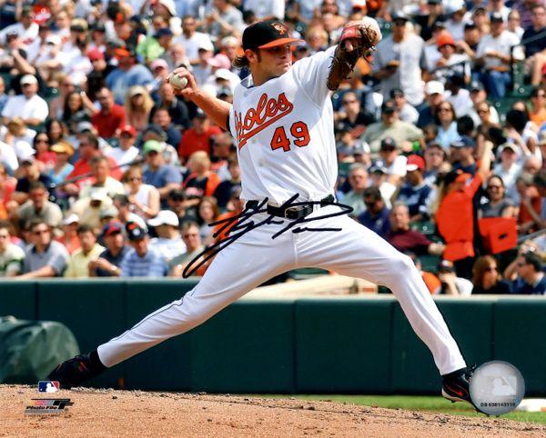 Hayden Penn autograph 8x10, Baltimore Orioles