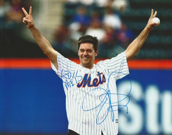 Autograph Jim Breuer 8x10, Inscription: Go Mets