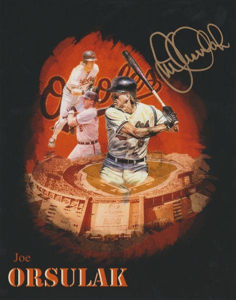 Joe Orsulak autograph 8x10, Baltimore Orioles