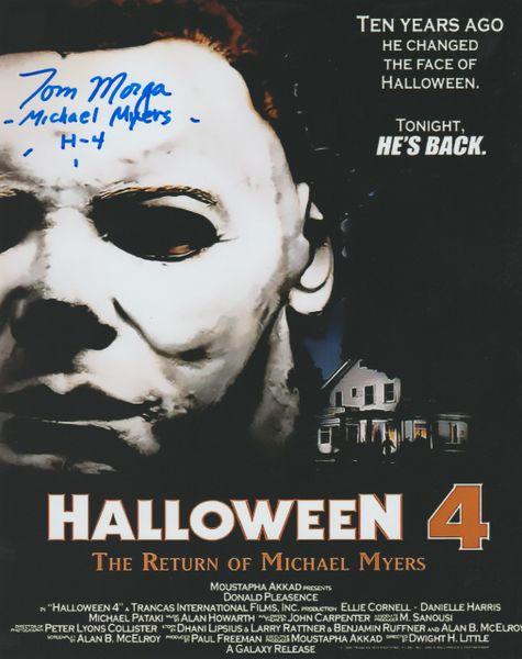 Tom Morga autograph 8x10 Halloween 4 with inscription