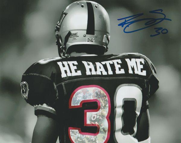 """Autograph 8x10 Rod """"He Hate Me"""" Smart XFL (custom)"""