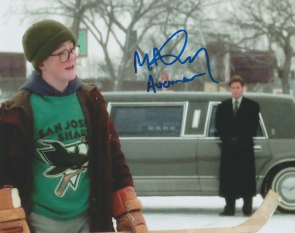 Autograph 8x10 Matt Doherty, Mighty Ducks; Les Averman