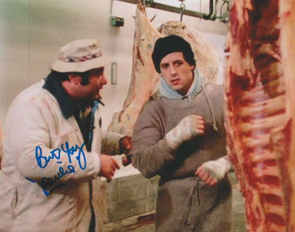 Burt Young autograph 8x10, Rocky I, Inscription: Paulie