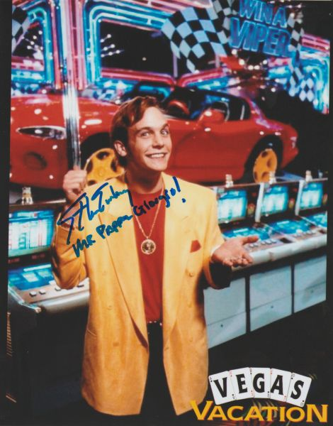 Ethan Embry autograph 8x10, Vegas Vacation, Inscription: Mr. Pappa Giorgio