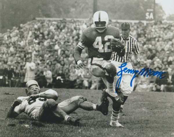 Lenny Moore autograph 8x10, Penn State