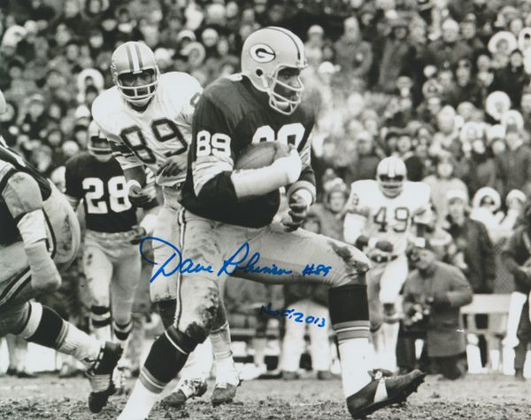Dave Robinson autograph 8x10, Green Bay Packers, Inscription: HOF 13