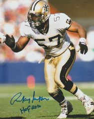 Rickey Jackson autograph 8x10, New Orleans Saints, Inscription: HOF 2010