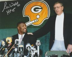 Ron Wolf autograph 8x10 with Reggie White, Green Bay Packers, HOF 15