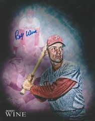 Bobby Wine autograph 8x10, Philadelphia Phillies custom photo (1)