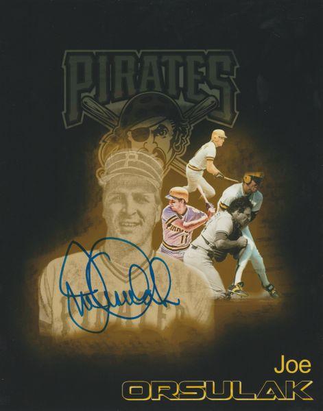 Joe Orsulak autograph 8x10, Pittsburgh Pirates