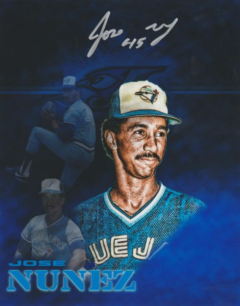Jose Nunez autograph 8x10, Toronto Blue Jays