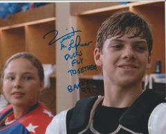 Vincent Larusso autograph 8x10; Ducks Fly Together! Mighty Ducks