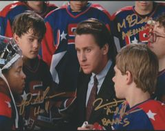 Autograph 8x10 of Larusso, Doherty and Adams, Mighty Ducks