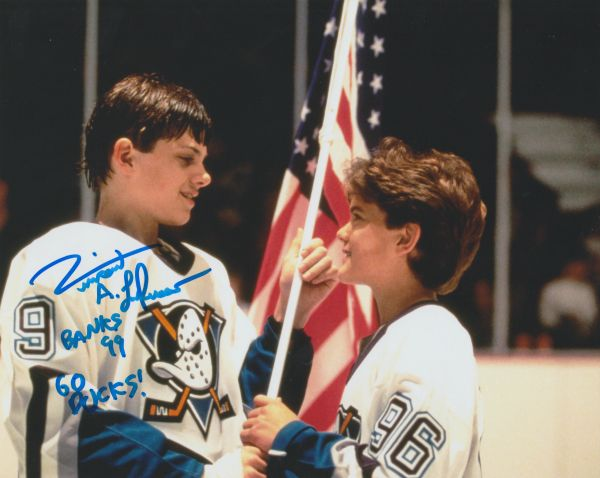 Autograph 8x10 Vincent Larusso; Banks 99, GO DUCKS!