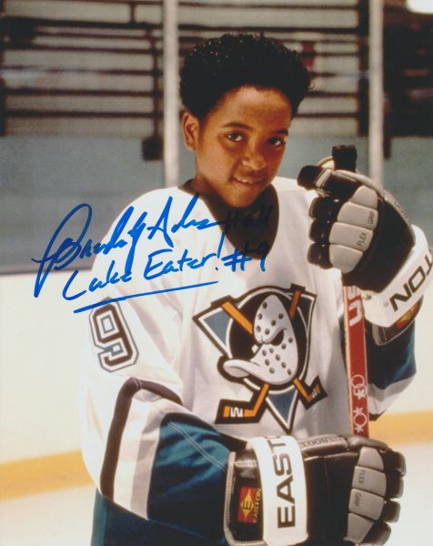 Brandon Adams autograph 8x10, Mighty Ducks; AWESOME INSCRIPTION