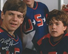 Vincent Larusso autograph 8x10, Mighty Ducks