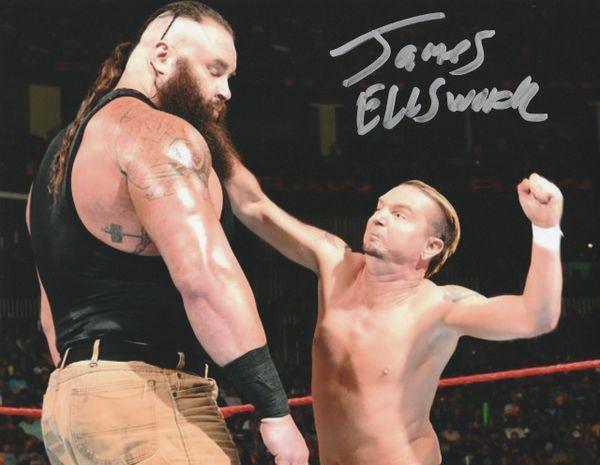 James Ellsworth autograph 8x10, vs Braun Strowman