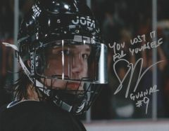 Scott Whyte autograph 8x10, Mighty Ducks 2, Gunnar (RARE INSCRIPTION)