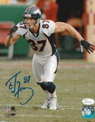 Ed McCaffrey autograph 8x10, Denver Broncos, with JSA