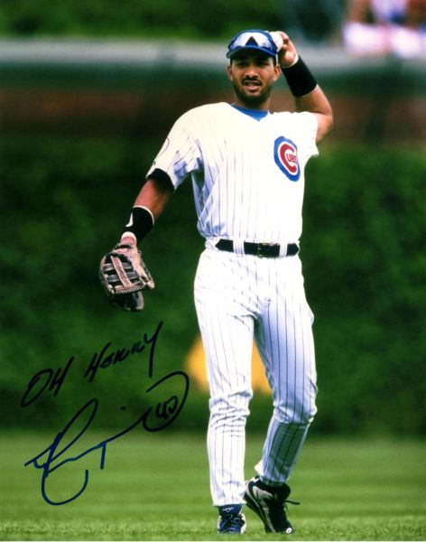 Henry Rodriguez autograph 8x10, Chicago Cubs, w/inscript