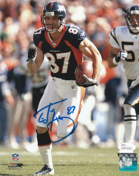 Ed McCaffrey 8x10 autograph, Denver Broncos, with JSA