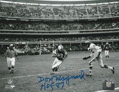 Don Maynard autograph 8x10, New York Jets, HOF 87