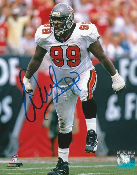 Warren Sapp autograph 8x10, Tampa Bay Buccaneers