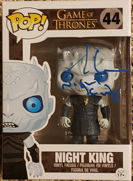 Richard Brake autograph funko pop, Game of Thrones Night King