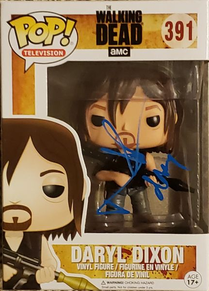 Norman Reedus autograph Funko pop, The Walking Dead, Daryl